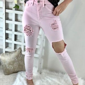 American Bazi High Waist distressed ripped jeans